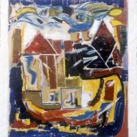 01. Οι αόρατες πόλεις, λάδι σε καμβά. 75Χ55cm, 1982