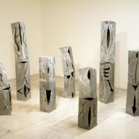 11. Κορνήλιος Γραμμένος, Οι 7 Ιππότες, γαλβανισμένος σίδηρος, h172cm (max), 1993